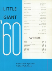 Page 5, 1960 Edition, Highland Park High School - Little Giant Yearbook (Highland Park, IL) online yearbook collection