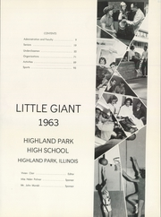 Page 5, 1963 Edition, Highland Park High School - Little Giant Yearbook (Highland Park, IL) online yearbook collection