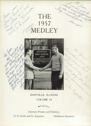 Page 5, 1957 Edition, Danville High School - Medley Yearbook (Danville, IL) online yearbook collection
