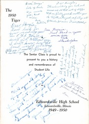 Page 7, 1950 Edition, Edwardsville High School - Tiger Yearbook (Edwardsville, IL) online yearbook collection