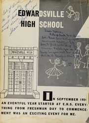 Page 6, 1955 Edition, Edwardsville High School - Tiger Yearbook (Edwardsville, IL) online yearbook collection