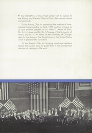 Page 9, 1938 Edition, Paris High School - Arena Yearbook (Paris, IL) online yearbook collection