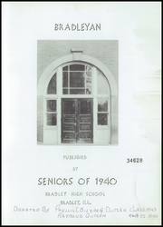 Page 3, 1940 Edition, Bradley Bourbonnais Community High School - Bradleyan Yearbook (Bradley, IL) online yearbook collection