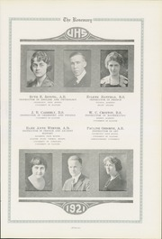 Page 17, 1921 Edition, Urbana High School - Tower Yearbook (Urbana, IL) online yearbook collection