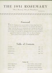 Page 7, 1951 Edition, Urbana High School - Tower Yearbook (Urbana, IL) online yearbook collection