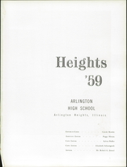Page 3, 1959 Edition, Arlington High School - Heights Yearbook (Arlington Heights, IL) online yearbook collection