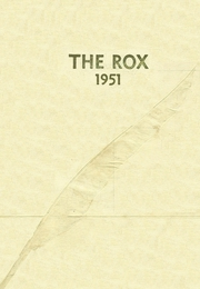 Page 1, 1951 Edition, Roxana High School - Rox Yearbook (Roxana, IL) online yearbook collection