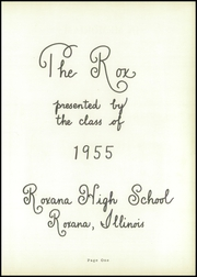 Page 5, 1955 Edition, Roxana High School - Rox Yearbook (Roxana, IL) online yearbook collection