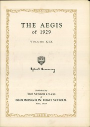 Page 7, 1929 Edition, Bloomington High School - Aepix Yearbook (Bloomington, IL) online yearbook collection