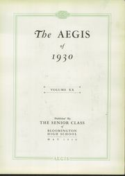 Page 7, 1930 Edition, Bloomington High School - Aepix Yearbook (Bloomington, IL) online yearbook collection
