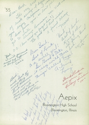 Page 5, 1955 Edition, Bloomington High School - Aepix Yearbook (Bloomington, IL) online yearbook collection