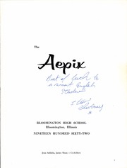 Page 5, 1962 Edition, Bloomington High School - Aepix Yearbook (Bloomington, IL) online yearbook collection