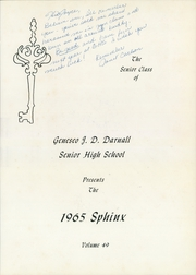 Page 5, 1965 Edition, J D Darnall High School - Sphinx Yearbook (Geneseo, IL) online yearbook collection
