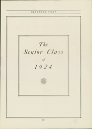 Page 11, 1924 Edition, St Ignatius High School - Ignatius Yearbook (Chicago, IL) online yearbook collection