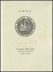 Page 3, 1952 Edition, St Ignatius High School - Ignatius Yearbook (Chicago, IL) online yearbook collection
