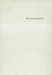 Page 7, 1940 Edition, Champaign High School - Maroon Yearbook (Champaign, IL) online yearbook collection