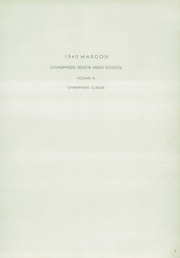 Page 9, 1940 Edition, Champaign High School - Maroon Yearbook (Champaign, IL) online yearbook collection