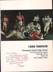 Page 5, 1969 Edition, Champaign High School - Maroon Yearbook (Champaign, IL) online yearbook collection