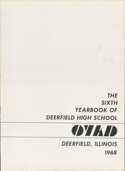 Page 5, 1968 Edition, Deerfield High School - O YAD Yearbook (Deerfield, IL) online yearbook collection