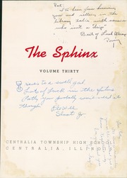 Page 5, 1943 Edition, Centralia Township High School - Sphinx Yearbook (Centralia, IL) online yearbook collection
