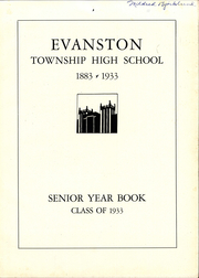 Page 7, 1933 Edition, Evanston Township High School - Key Yearbook (Evanston, IL) online yearbook collection