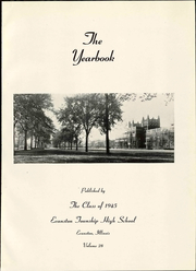 Page 9, 1945 Edition, Evanston Township High School - Key Yearbook (Evanston, IL) online yearbook collection