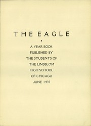Page 7, 1935 Edition, Lindblom Technical High School - Eagle Yearbook (Chicago, IL) online yearbook collection