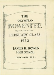 Page 5, 1932 Edition, James Harvey Bowen High School - Bowenite Yearbook (Chicago, IL) online yearbook collection