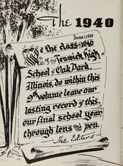 Page 6, 1940 Edition, Fenwick High School - Blackfriars Yearbook (Oak Park, IL) online yearbook collection