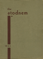 Page 1, 1933 Edition, Mendota High School - Atodnem Yearbook (Mendota, IL) online yearbook collection