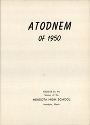 Page 5, 1950 Edition, Mendota High School - Atodnem Yearbook (Mendota, IL) online yearbook collection