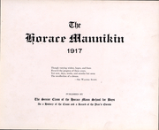 Page 3, 1917 Edition, Horace Mann School - Horace Mannikin Yearbook (Bronx, NY) online yearbook collection
