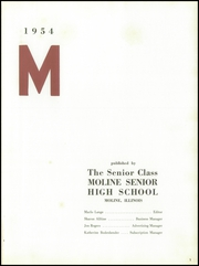 Page 5, 1954 Edition, Moline High School - M Yearbook (Moline, IL) online yearbook collection