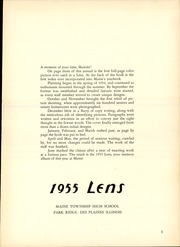 Page 5, 1955 Edition, Maine East High School - Lens Yearbook (Park Ridge, IL) online yearbook collection