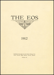 Page 5, 1912 Edition, West Aurora High School - EOS Yearbook (Aurora, IL) online yearbook collection