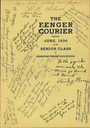 Page 5, 1936 Edition, Fenger Academy High School - Courier Yearbook (Chicago, IL) online yearbook collection