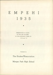 Page 7, 1935 Edition, Morgan Park High School - Empehi Yearbook (Chicago, IL) online yearbook collection