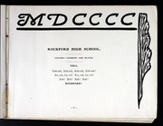 Page 13, 1900 Edition, Rockford High School - RHS Yearbook (Rockford, IL) online yearbook collection