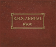 Page 1, 1908 Edition, Rockford High School - RHS Yearbook (Rockford, IL) online yearbook collection
