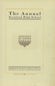Page 7, 1911 Edition, Rockford High School - RHS Yearbook (Rockford, IL) online yearbook collection