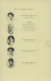 Page 17, 1913 Edition, Rockford High School - RHS Yearbook (Rockford, IL) online yearbook collection