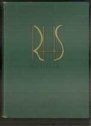 1935 Edition, Rockford High School - RHS Yearbook (Rockford, IL)