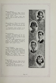 Page 17, 1920 Edition, Downers Grove North High School - Cauldron Yearbook (Downers Grove, IL) online yearbook collection