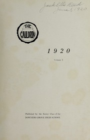 Page 3, 1920 Edition, Downers Grove North High School - Cauldron Yearbook (Downers Grove, IL) online yearbook collection