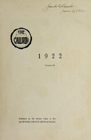 Page 3, 1922 Edition, Downers Grove North High School - Cauldron Yearbook (Downers Grove, IL) online yearbook collection