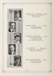 Page 12, 1924 Edition, Downers Grove North High School - Cauldron Yearbook (Downers Grove, IL) online yearbook collection