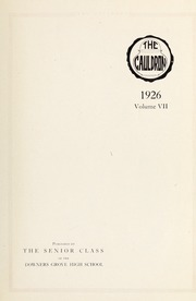 Page 7, 1926 Edition, Downers Grove North High School - Cauldron Yearbook (Downers Grove, IL) online yearbook collection