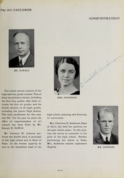 Page 15, 1937 Edition, Downers Grove North High School - Cauldron Yearbook (Downers Grove, IL) online yearbook collection