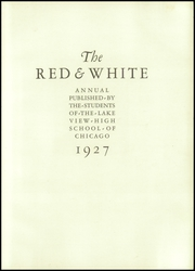 Page 7, 1927 Edition, Lake View High School - Red and White Yearbook (Chicago, IL) online yearbook collection