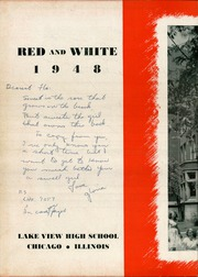 Page 6, 1948 Edition, Lake View High School - Red and White Yearbook (Chicago, IL) online yearbook collection